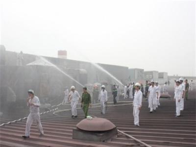 Cháy xưởng sơn tại công ty Honda Việt Nam