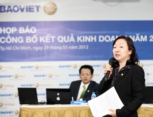 BVH lợi nhuận trước thuế 2011 hợp nhất 1.521 tỷ đồng