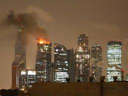Cháy lớn tại công trình chọc trời của Nga
