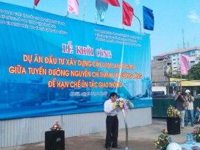 Hà Nội khởi công xây cầu vượt nút giao Nguyễn Chí Thanh - Láng