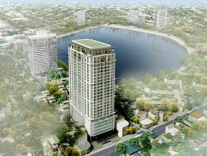 Dự án nhà ở cao cấp 27 tầng tại Núi Trúc, Hà Nội tiếp tục được xây dựng