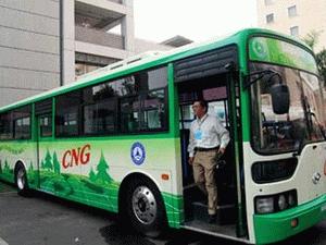 Đưa vào hoạt động tuyến xe buýt liên tỉnh chạy bằng khí nén