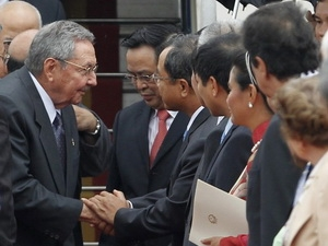 Chủ tịch Cuba Raul Castro Ruz chính thức thăm Việt Nam