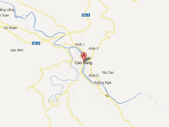 Thị xã Cao Bằng có 2 phường mới