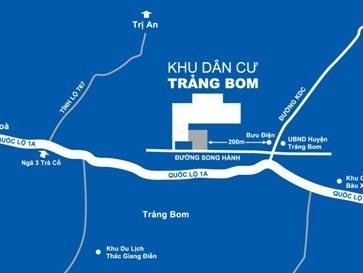 Đồng Nai điều chỉnh quy hoạch 1/500 khu dân cư tại thị trấn Trảng Bom