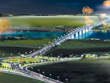 Hà Nội xây 16 công trình đường bộ vượt sông Hồng