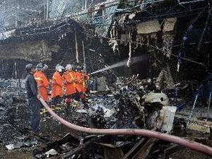 Đánh bom xe gây hỏa hoạn lớn ở Thái Lan