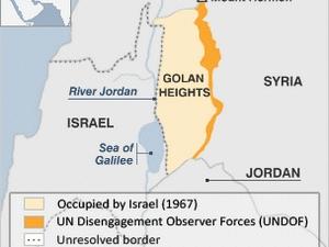 Israel khiếu nại Syria xâm phạm Cao nguyên Golan