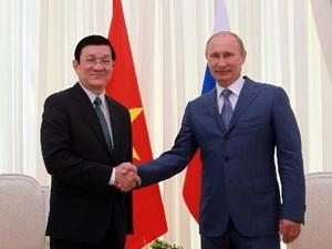 Chủ tịch nước Việt Nam hội đàm với Tổng thống Nga Putin