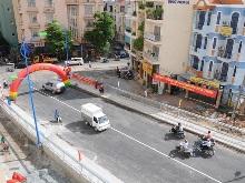 Phân luồng giao thông tại nút Hoàng Hoa Thám - Văn Cao