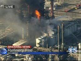 Cháy lớn tại nhà máy lọc dầu của Chevron ở California