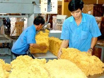 Giá cao su xuất khẩu sang Trung Quốc giảm mạnh
