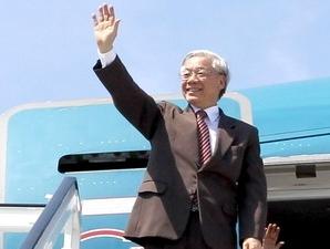 Tổng Bí thư Nguyễn Phú Trọng sẽ thăm chính thức Singapore