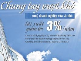 VietinBank giảm 3% lãi suất phục vụ sản xuất kinh doanh