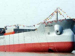 Vinashin bàn giao tàu chở ximăng 16.800 tấn cho chủ tàu Na Uy