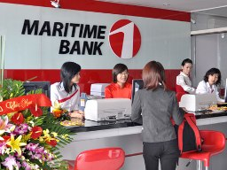Maritime Bank tạm ứng cổ tức 7% đợt 1/2012