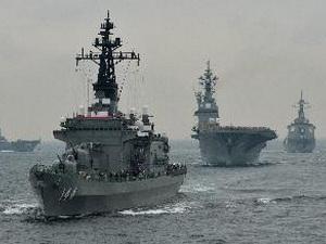 Nhật Bản tập trận hải quân quy mô lớn