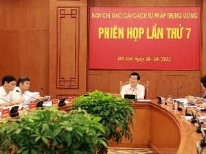 Ban Chỉ đạo Cải cách Tư pháp trung ương họp phiên thứ 7
