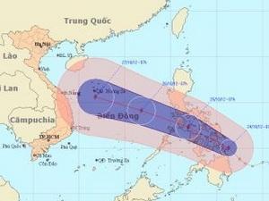 Philippines hủy các chuyến bay và tàu vì bão Sơn Tinh