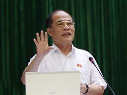 Chủ tịch Nguyễn Sinh Hùng: CPI tháng 10 tăng 0,81%