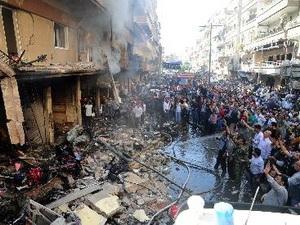 Máy bay chiến đấu lần đầu oanh kích thủ đô Syria