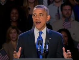 Tổng thống Obama đọc diễn văn mừng chiến thắng