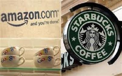 Starbucks, Google và Amazon đối mặt với điều tra thuế tại vương quốc Anh