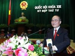 Chủ tịch Quốc hội: Năm 2013 phải tạo chuyển biến tích cực về chất lượng tín dụng
