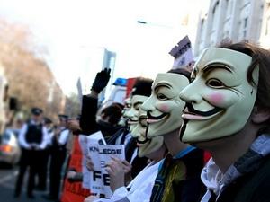 Nhóm tin tặc Anonymous tấn công các trang web Israel