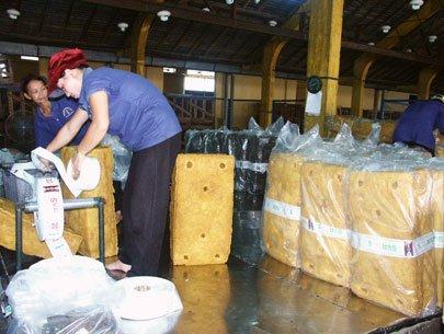 Xuất khẩu cao su sang Trung Quốc không ổn định