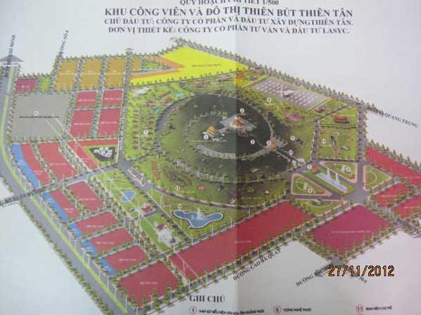 Quảng Ngãi: Đề xuất ý tưởng đầu tư Công viên và Khu đô thị Thiên Bút-Thiên Tân