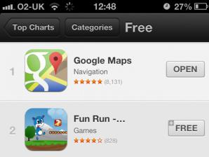 Google Maps cho iOS dẫn đầu trên App Store sau vài giờ ra mắt