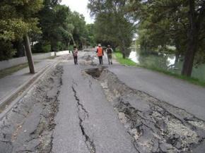 Động đất năm 2012 gây sụt lún nghiêm trọng tại Nhật Bản