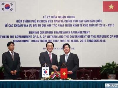 Hàn Quốc cấp 1,2 tỷ USD tín dụng ưu đãi cho Việt Nam