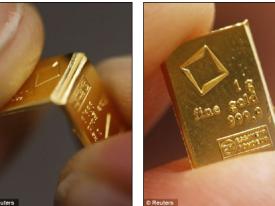 Giới siêu giàu Tây Âu xếp hàng mua vàng miếng bẻ cong