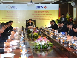 AVIL, BIDV là cầu nối doanh nghiệp Việt - Lào
