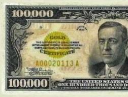 Câu chuyện về tờ 100.000 USD