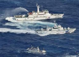 Nhật Bản lại dùng vòi rồng ngăn chặn tàu Đài Loan