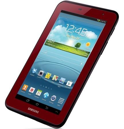 Galaxy Tab 2 7 inch ra mắt phiên bản màu đỏ