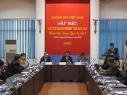 Năm 2012, đường sắt Việt Nam đạt tổng doanh thu trên 10 nghìn tỷ đồng