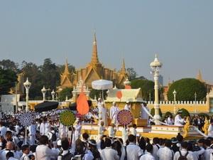 Campuchia rước linh cữu Cố Quốc vương Sihanouk