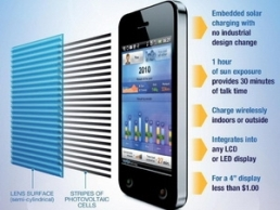 Công nghệ giúp smartphone tự sạc năng lượng Mặt Trời