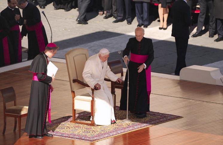 Hình ảnh buổi thuyết giảng cuối cùng của Giáo hoàng Benedict XVI