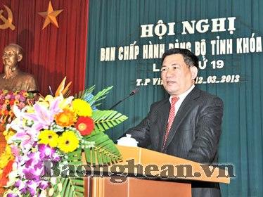Ông Hồ Đức Phớc được bầu làm Bí thư Tỉnh ủy Nghệ An
