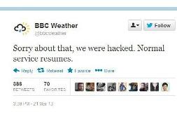 Tài khoản Twitter của BBC bị tin tặc tấn công