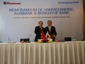 Agribank ký hợp tác toàn diện với ngân hàng Hàn Quốc