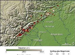 Tiết lộ nguyên nhân gây động đất mạnh ở Trung Quốc