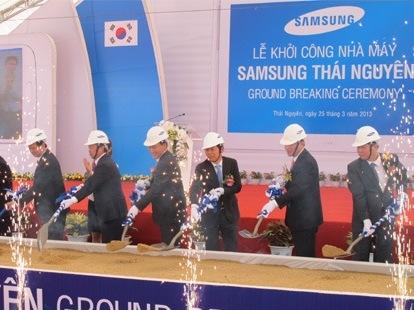 Dự án Samsung tại Thái Nguyên vướng giải phóng mặt bằng