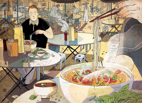 Chuyện ông Tây tập ăn cơm bình dân Sài Gòn