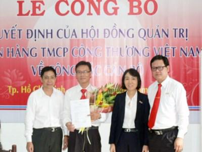 VietinBank bổ nhiệm lãnh đạo tại 2 chi nhánh